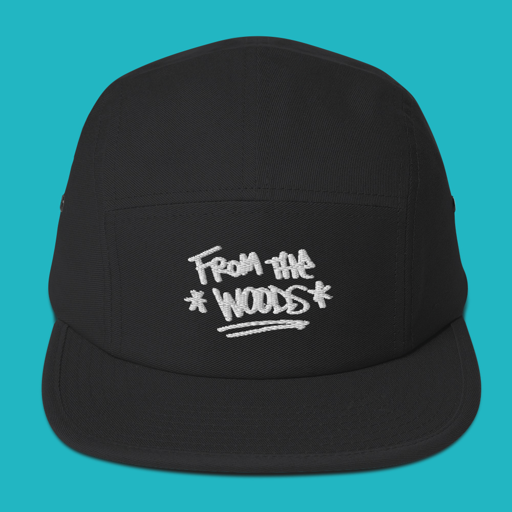 5-panel-hat-from-the-woods-graffiti-font-jackson-whalan-hip-hop-music