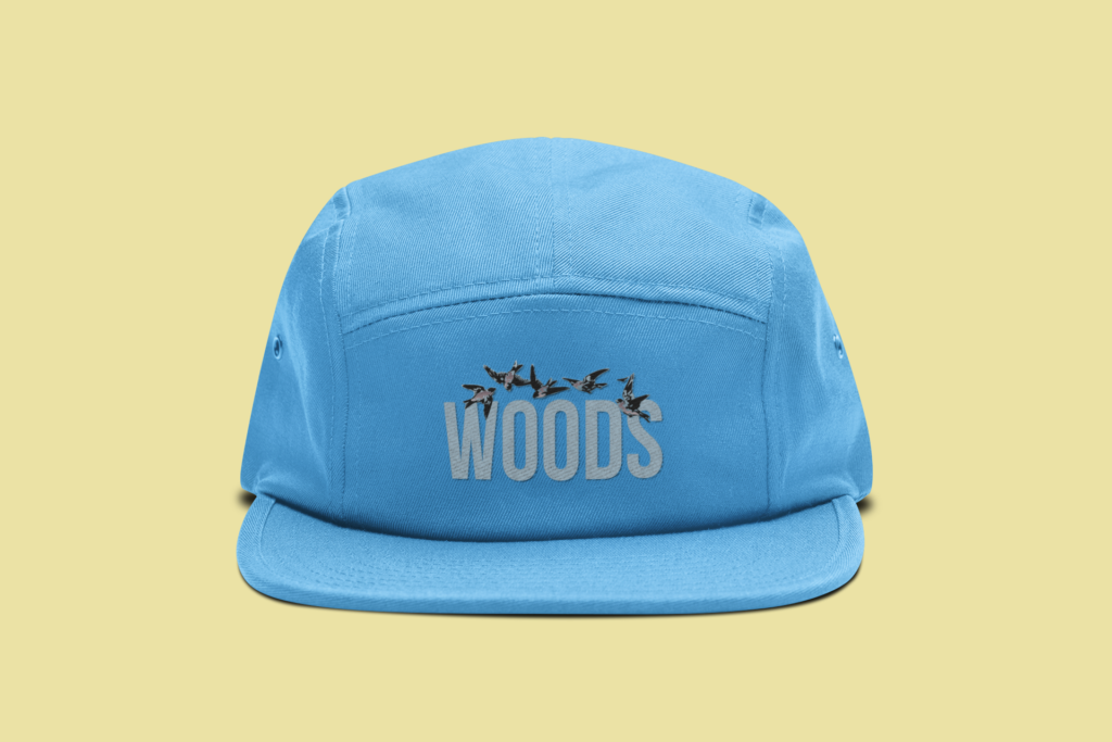 blue-hat-woods-yellow-background