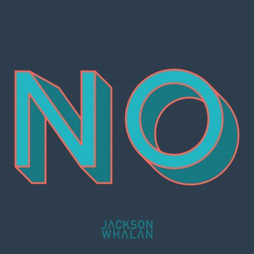 NO-blue-text-jackson-whalan-album-cover-hip-hop-rap-song